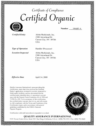 Certifcat Organic